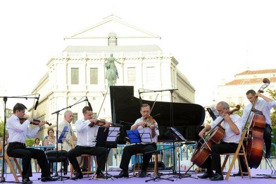 Janusz Olejniczak con Camerata Vistula. Foto: Andrés de Gabriel